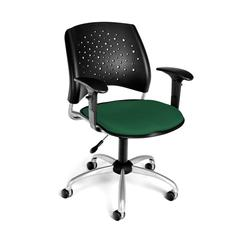 OFM Stars Swivel Chair with Arms, Forest Green