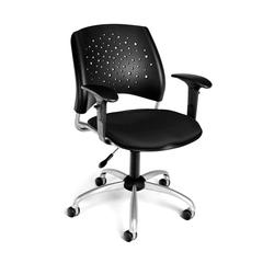 Stars Swivel Chair with Arms, Black