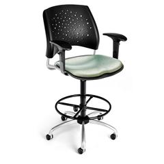 Elements Stars Swivel Chair with Arms, Olympus Laurel