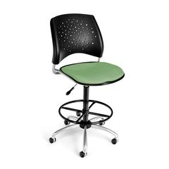 OFM Stars Swivel Stool, Sage Green