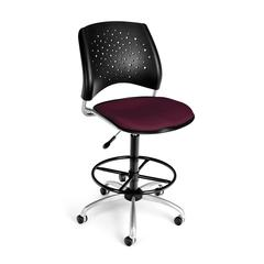 OFM Stars Swivel Stool, Burgundy