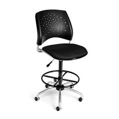 Stars Swivel Stool, Black