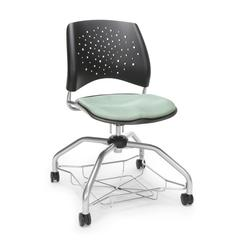 Stars Foresee Series Chair with Removable Fabric Seat Cushion - Student Chair, Sage Green