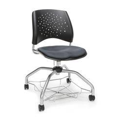 Stars Foresee Series Chair with Removable Fabric Seat Cushion - Student Chair, Slate Gray