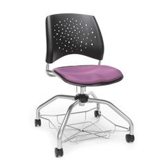 Stars Foresee Series Chair with Removable Fabric Seat Cushion - Student Chair, Plum