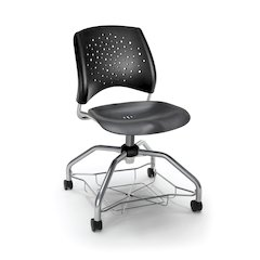 Star Series Foresee Chair -Plastic Black Seat