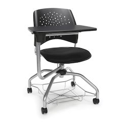 Star Series Foresee Tablet Chair Black