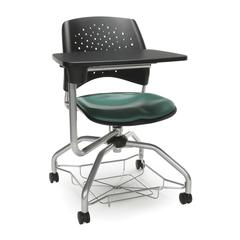 Stars Foresee Series Tablet Chair with Removable Vinyl Seat Cushion - Student Desk Chair, Teal