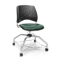 Stars Foresee Series Chair with Removable Vinyl Seat Cushion - Student Chair, Teal