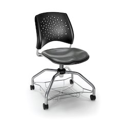 Star Series Foresee Chair - Vinyl Charcoal