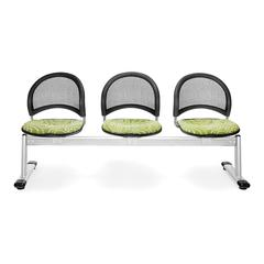 Elements Moon 3-Unit Beam Seating with 3 Seats, Idiom Green Thumb