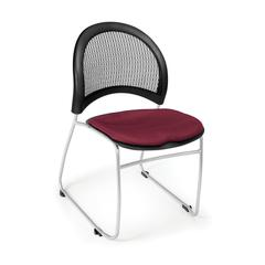 OFM Moon Stack Chair, Burgundy