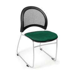 OFM Moon Stack Chair, Forest Green