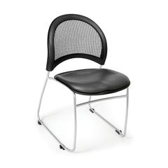 Moon Stack Vinyl Chair, Charcoal