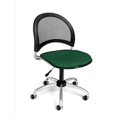 OFM Moon Swivel Chair, Forest Green