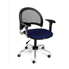 OFM Moon Swivel Chair with Arms, Charcoal
