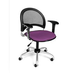 Moon Swivel Chair with Arms, Plum