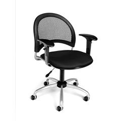 OFM Moon Swivel Chair with Arms, Black