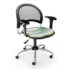 OFM Elements Moon Swivel Chair with Arms, Olympus Laurel