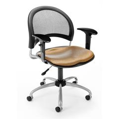 OFM Elements Moon Swivel Chair with Arms, Olympus Shoya