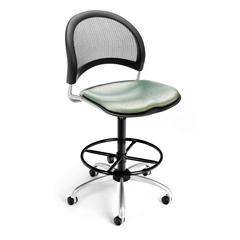 Elements Moon Swivel Chair with Drafting Kit, Olympus Laurel