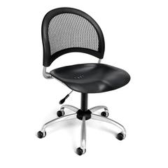 Moon Swivel Plastic Chair, Black