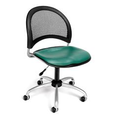 Moon Swivel Vinyl Chair, Teal