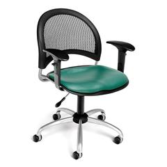 OFM Moon Swivel Vinyl Chair with Arms