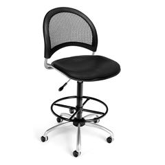 Moon Swivel Vinyl Chair with Drafting Kit, Black