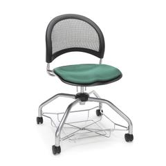 Moon Foresee Series Chair with Removable Fabric Seat Cushion - Student Chair, Shamrock Green