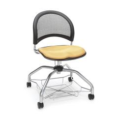 Moon Foresee Series Chair with Removable Fabric Seat Cushion - Student Chair, Golden Flax