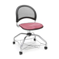 Moon Foresee Series Chair with Removable Fabric Seat Cushion - Student Chair, Coral Pink
