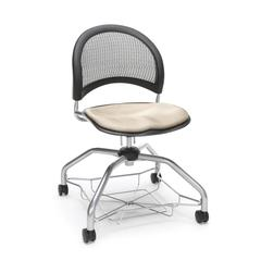 Moon Foresee Series Chair with Removable Fabric Seat Cushion - Student Chair, Khaki
