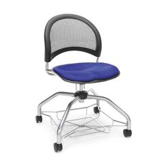 Moon Foresee Series Chair with Removable Fabric Seat Cushion - Student Chair, Royal Blue