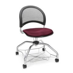 Moon Foresee Series Chair with Removable Fabric Seat Cushion - Student Chair, Burgundy