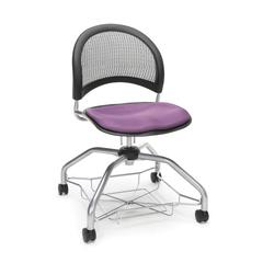 Moon Foresee Series Chair with Removable Fabric Seat Cushion - Student Chair, Plum
