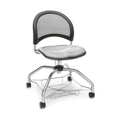 Moon Foresee Series Chair with Removable Fabric Seat Cushion - Student Chair, Putty