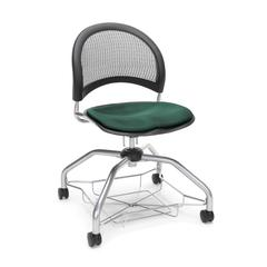 Moon Foresee Series Chair with Removable Fabric Seat Cushion - Student Chair, Forest Green