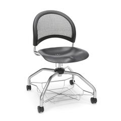 Moon Foresee Series Chair with Removable Plastic Seat Cushion - Student Chair, Black
