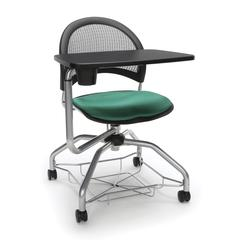 Moon Foresee Series Tablet Chair with Removable Fabric Seat Cushion - Student Desk Chair, Shamrock Green