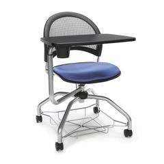 Moon Foresee Series Tablet Chair with Removable Fabric Seat Cushion - Student Desk Chair, Colonial Blue
