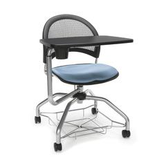 Moon Foresee Series Tablet Chair with Removable Fabric Seat Cushion - Student Desk Chair, Cornflower Blue