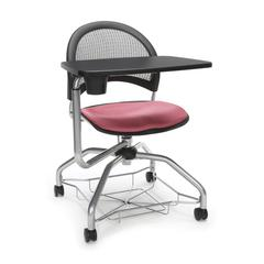 Moon Foresee Series Tablet Chair with Removable Fabric Seat Cushion - Student Desk Chair, Coral Pink