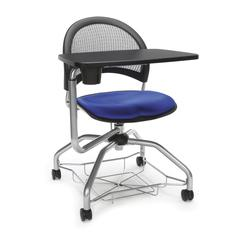 Moon Foresee Series Tablet Chair with Removable Fabric Seat Cushion - Student Desk Chair, Royal Blue