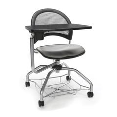 Moon Foresee Series Tablet Chair with Removable Fabric Seat Cushion - Student Desk Chair, Putty