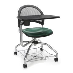 Moon Foresee Series Tablet Chair with Removable Vinyl Seat Cushion - Student Desk Chair, Teal