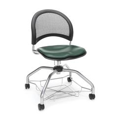 Moon Foresee Series Chair with Removable Vinyl Seat Cushion - Student Chair, Teal