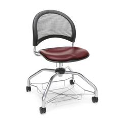 Moon Foresee Series Chair with Removable Vinyl Seat Cushion - Student Chair, Wine