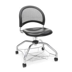 Moon Foresee Series Chair with Removable Vinyl Seat Cushion - Student Chair, Charcoal