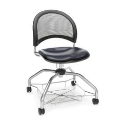 Moon Foresee Series Chair with Removable Vinyl Seat Cushion - Student Chair, Navy